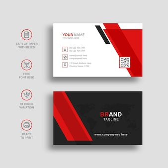 Modern and creative business card template design