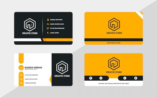 Современный креативный шаблон визитной карточки