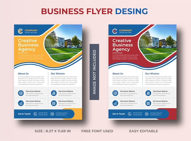 Modern and creative business flyer design vector