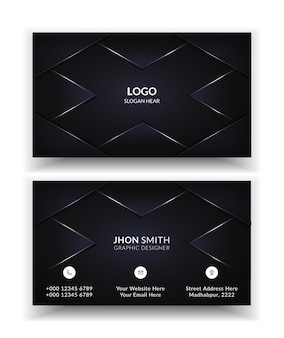 Modern creative and clean business card template.