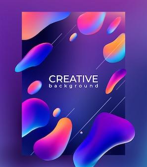 Современный креативный красочный жидкий градиент формы плакат