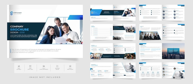 Modern creative company profile brochure design template