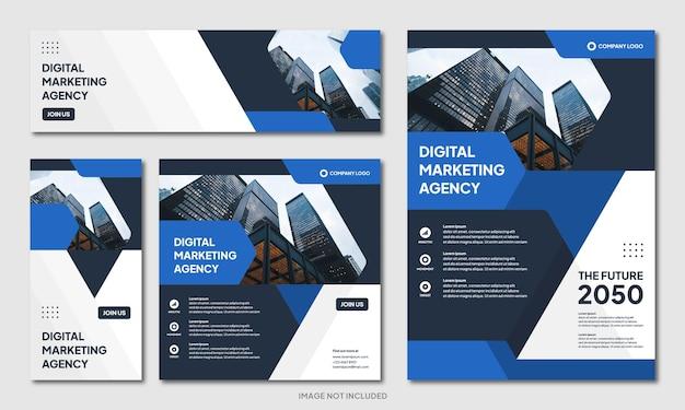 現代の創造的な企業パンフレットデザインの背景テンプレートとソーシャルメディアの投稿バナーinstagram