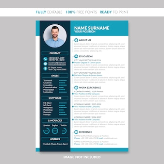 Modern creative cv resume template.