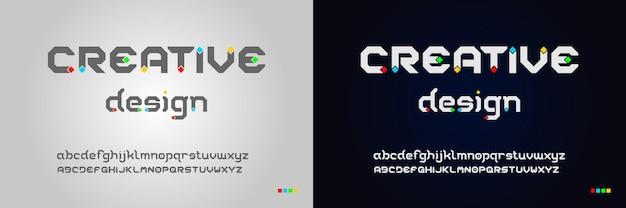 Современный креативный дизайн шрифта для забавного шаблона