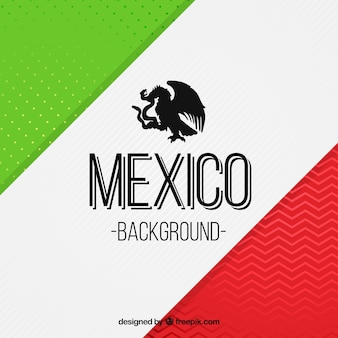 Modern creative mexican flag background
