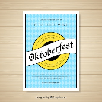 Modern creative oktoberfest flyer template