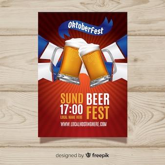 Modern creative oktoberfest poster template