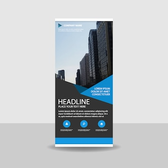 Blu creativo roll up banner template