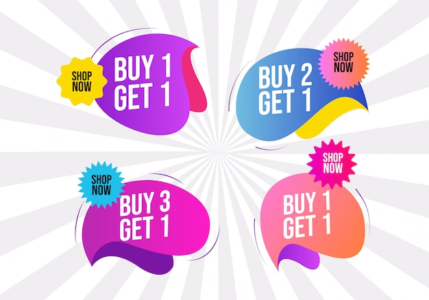 Modern creative sale bubble vector design