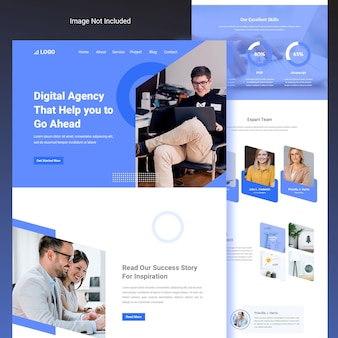 Modern and creative website template agency