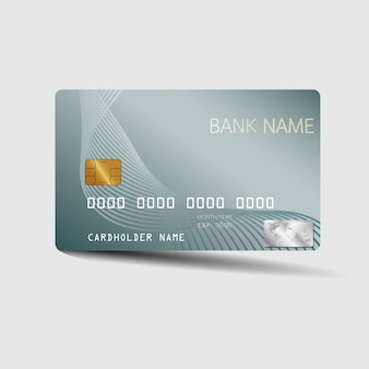 Modern credit card template. With inspiration from the abstract.
