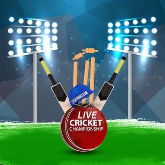 Modern cricket stadium concept