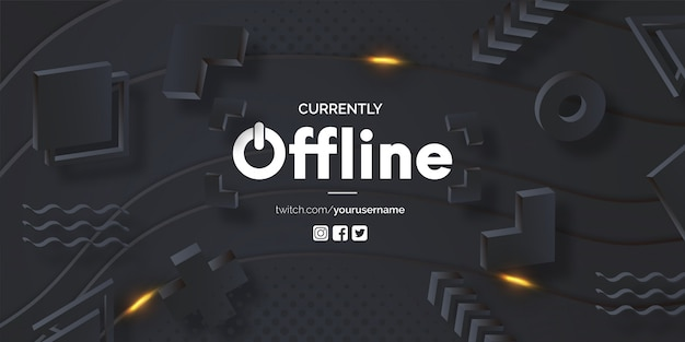 Modern currently offline banner template