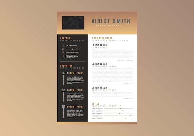 Modern curriculum vitae template vector