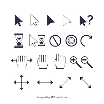Modern cursor set