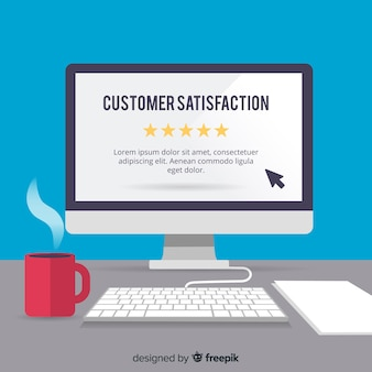 Modern customer satisfaction concept