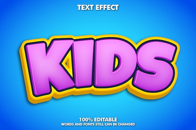 Modern and cute cartoon text effect