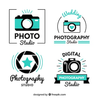 Modern cute photo studio logos