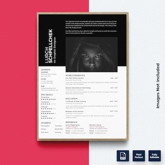 現代のcv履歴書印刷テンプレートベクトルプレミアム