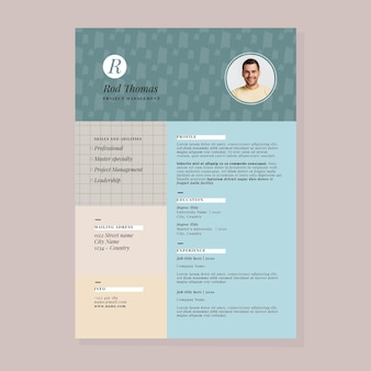 Modern cv template concept