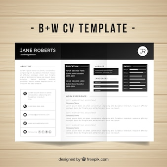 Modern cv template with elegant style