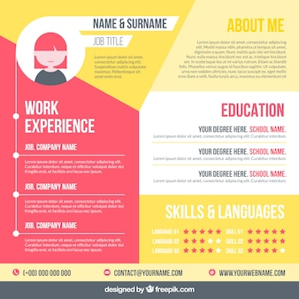 Modern cv template with elegant style