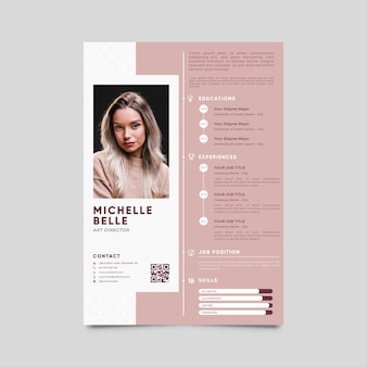 Modern cv template with photo