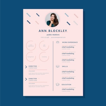 Modern cv with educational and professional skills