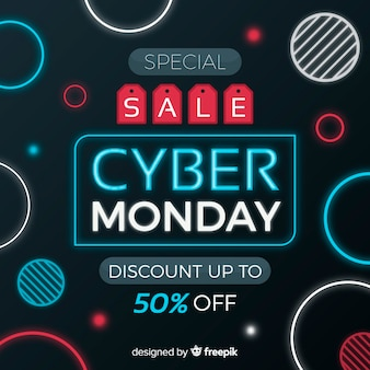 Modern cyber monday composition with abstract design