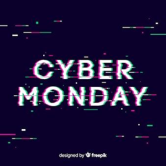 Modern cyber monday sale background