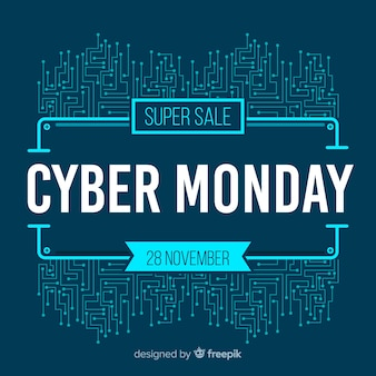 Modern cyber monday sale background