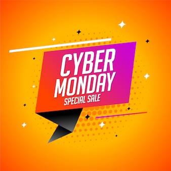 Modern cyber monday special sale banner design