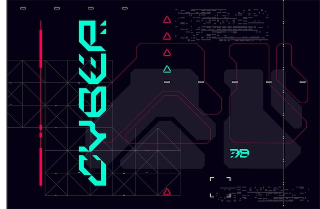 Modern cyberpunk poster futuristic abstract hud good for game ui vector illustration eps10