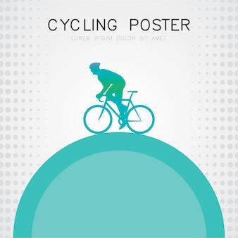 現代サイクリングポスター