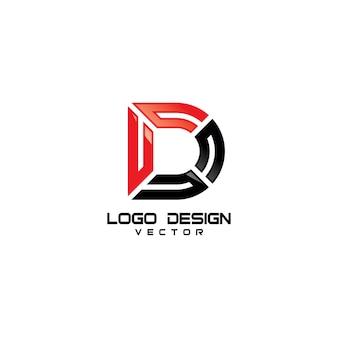 Modern D Symbol Logo Design
