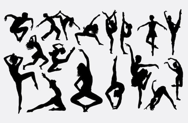 Современный силуэт танца