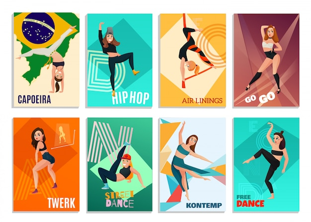 Modern dances cards