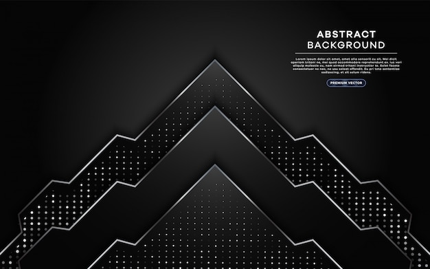 Modern dark background with silver line and dots element.