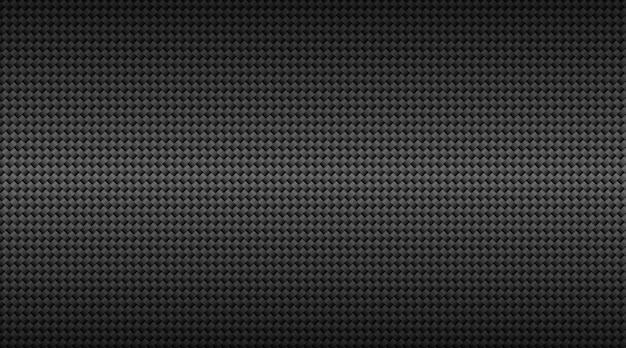 モダンなダークブラックカーボンファイバーグリッドの背景。