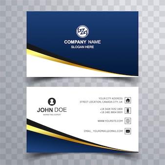 Modern dark blue business card
