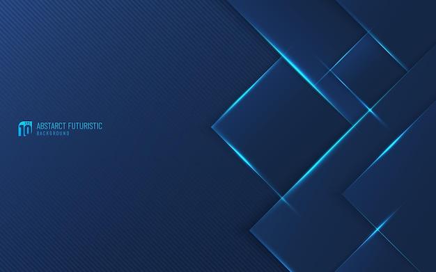 파란색 선으로 현대적인 진한 파란색 디자인 작품입니다.
