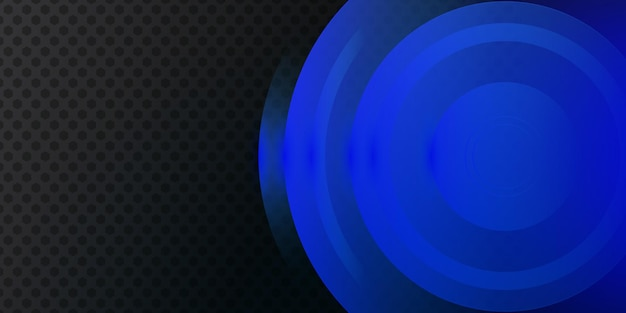 Modern dark blue metallic abstract 3d background with dynamic overlap layers and light decoration