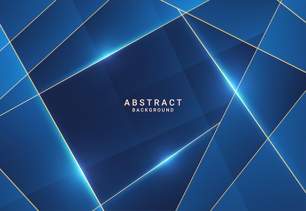 Modern dark luxury blue paper background with 3d layered line triangle texture for website, business card design. vector illustration