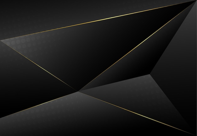 ウェブサイト、名刺のデザインのための3dレイヤードライン三角形のテクスチャとモダンなダークラグジュアリーグレー紙の背景。ベクトルイラスト