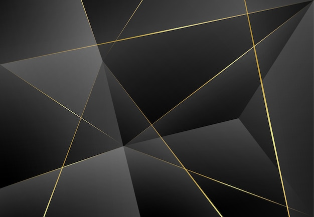 Modern dark luxury gray paper background with 3d layered line triangle texture for website, business card design. vector illustration