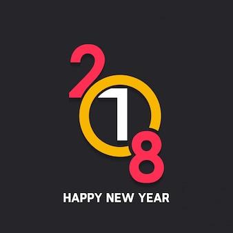 Modern dark new year 2018 design