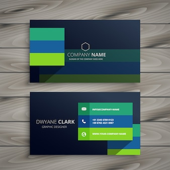 Современный дизайн темных профессиональных визитных карточек