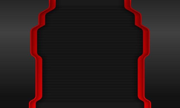 현대 어두운 빨간색 기술 배경