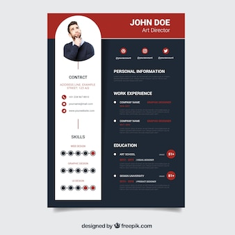 modern dark resume template - Resume Template Design Psd
